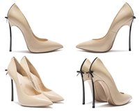 pink color + gold heel new brand sexy bowknot pointed toe hig...