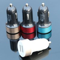 Mode 5V 2A Micro Auto Universal Dual USB Car Charger Mini Auto-Ladegerät Adapter für iPhone Samsung Xiaomi HTC
