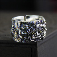 925 sterling silver ring vintage Tiger ring men' s Thai ...