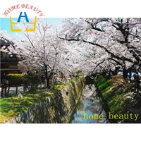 diamond painting cross stitch kit complete cherry blossoms p...