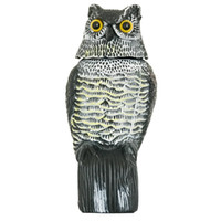 1pc Large Realistic Simulation Owl Decoy With Rotating Head ...