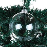 زينة عيد الميلاد تهب الكرات شفافة الجوف واضح زجاج شجرة شجرة شجرة زخرفة صغيرة رائعة مع حجم مختلف 1 95ml cc