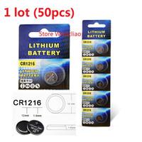 50 pcs 1 lote CR1216 3 V bateria de lítio botão Li ion ion CR 1216 3 Volt li-ion moeda baterias frete grátis
