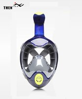 2018 New THENICE Nuoto Maschera da snorkel Full Face Diving Attrezzatura subacquea Anti Fog Anti-Leak Easy Breath Diving Snorkeling