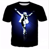 Sommarstil Nyaste Fashion Mens / Womens King of Pop Michael Jackson Rolig 3D-utskrift Casual T-shirt ABCQ00107