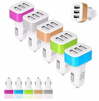 Universal Triple Car Charger 5V 5.2A 3 USB Port Auto AC-Adapter Hochleistungs-Auto-Ladegerät Bunte für e Zigarre Handy Tablet