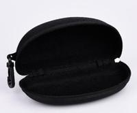 Difícil caso zíper homem caixa de compressão óculos caso preto plástico esportes esportes sol caixa caixa livre frete grátis
