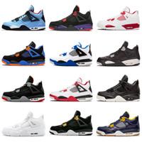 2018 Novo Travis 4 Cactus Jack 4s Mens Raptors Basketball Shoes 4S Cimento Branco Preto Vermelho 4 Superman Moda Sapatilhas Sapatos Esportivos