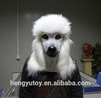 Горячие продажи пудель косплей животных Маска карнавальный костюм головы латекс собака маска для партии