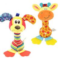 Детские игрушки плюша 0-3 месяцев Новорожденный ребенок Rattle