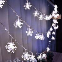 Floco De Neve Luzes Da Corda 2 M 3 M 5 M 10 M 100LED Natal LEVARAM Fada Corda Luz para o Jardim Festa de Casamento Luzes Da Árvore de Natal