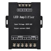 El controlador de amplificador RGB LED entró 12V 24V 15A * 3 45A Repetidor de señal 360W para 3528 5630 5050 RGB Led Strip