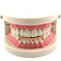 Hip Hop Schmuck Dental Grills Funny Tooth Under Teeth Die neuen Requisiten Hip-Hop Gold Silber Zähne für Party