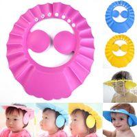 Bonnet de douche bébé avec oreille confortable réglable shampooing imperméable à l'eau douce douche chapeau de bain pour bébé enfants bambin enfants