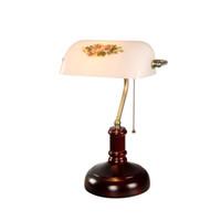 Banca lampada da tavolo Vintage lampada da comodino lampade da tavolo in vetro bianco per la casa Decora camera da letto di studio lampade NUOVO art TA072