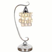 Современный Кристалл Magic Cube Спальня Прикроватные Тумбочки Стол Свет Кристалл Кабинет Стол Светильники Гостиная Лампы Для Чтения