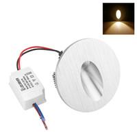 3 W LED Gömme Duvar Lambası Kare LED Sundurma Yolu Adım Merdiven Işık Yuvarlak LED Ayak Izleri Kapalı Köşe Işıkları Bridgelux Çip 2 adet