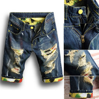 New arrival Men Washed denim shorts Stylish Short Ripped Jea...