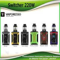 Original Vaporesso Switcher 220W Стартовые наборы TC Bod Mod с 5ml NRG Tank Atomizer Большой OLED-дисплей Vape Kit 100% аутентичный