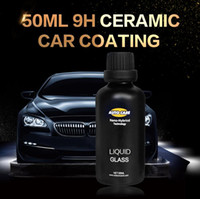 Cerámica Car Coating Liquid Glass 50ML 9H Dureza Car Polish Motocicleta Cuidado de la Pintura Nano Hidrofóbica Coating Spray Boquilla Choice