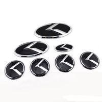 7 шт. / лот 3D авто руль наклейки этикетки капот загрузки знак для KIA OPTIMA K2/K3 / K5 Venga автомобилей эмблема колеса центр крышки