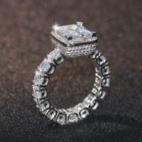 فيكتوريا wieck جديد متألقة مجوهرات 925 فضة الأميرة قص 5a زركون تشيكوسلوفاكيا كريستال المرأة خاتم الزواج مجموعة هدية