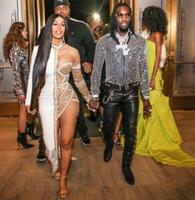 Abito da sera Yousef aljasmi Kim kardashian Cap sleeve Collo alto Cristallo Asimmetrico Speciale Almoda gianninaazar ZuhLair murad Ziadnakad