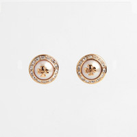 2018 Top quality Elegant natalie stud earring with 0. 8cm whi...