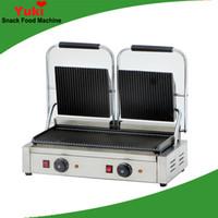Ticari Çift Kafa Sandviç Makinesi Panini Pan Yapışmaz Et Izgara Pan Elektrikli Ticari Kahvaltı Makinesi Sandviç Makinesi