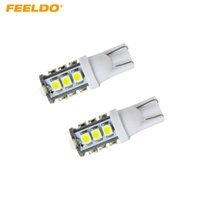 FEELDO 50PCS Haute Puissance Blanc T10 194 168 1210 10SMD Ampoules LED De Voiture De Cale # 928