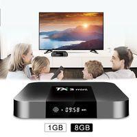TX3 미니 안드로이드 8.1 TV 박스 쿼드 코어 1GB 8GB AMLOGIC S905W WIFI 4K 스마트 미디어 플레이어 셋톱 박스
