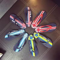 Männer Flip Flops Männliche Hausschuhe Junge Nationalflagge Casual PVC EVA Shoes 2018 Sommer Mode Strand Sandalen Outdoor Schuhe Q-449