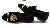 2018 Hot style Fashion Stylist Herren Print Wildleder Metall Toe Leder Loafers Kleid Schuhe Slip auf Casual Party Loafers Britischen Herren Wohnungen N34