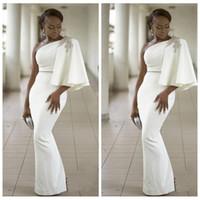 2021 Delgado personalizado Mejor Equipada formal Prom vestidos de un hombro vaina vestidos de noche Arabia Saudita Damas Especial partido formal de los vestidos con cuentas