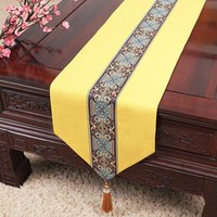 High Quality Cotton Linen Lace Small Table Runner Dining Table Mat Chinese Decorative Coffee Table Cloth Rectangle Placemat 100x33 cm