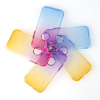 phone case TPU Silicone Gradient Color Transparent Environme...
