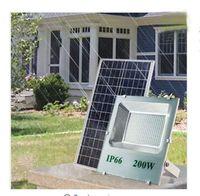 Наружные солнечные светодиодные огни 200W 120W 100W 70-85LM лампы водонепроницаемый IP67 Осветительный прожектор для освещения аккумуляторной батареи Power Direct China