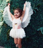 2018 Ins Girl Swan Wings Tutu Dress 1 piece Children Perform...
