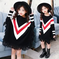 Girls sweaters bats shirt trend children 2017 new autumn and...