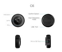 C6 Micro WiFi Mini caméra HD 720p avec application Smartphone et Vision Night Vision Caméra IP Wireless Caméscope vidéo de sécurité