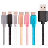1M 2M 3M مضفر البيانات الدقيقة V8 5PIN USB النسيج شحن كابل لسامسونج لهتك للهاتف أندرويد