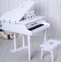 30 anahtar çocuk oyuncak ahşap erken öğretim piyanolar