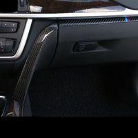 Углеродное волокно Стайлинг салона автомобиля Copilot Перчаточный ящик, ручка, декоративная отделка крышки Наклейки Для BMW 3 4 серии 3GT F30 F31 F32 F34 Аксессуары