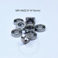 MR148ZZ 8 * 14 * 4 MM 10piecesfree 배송 ABEC -5- 베어링 금속 실드 소형 소형 베어링 MR148 MR148ZZ 크롬강 베어링