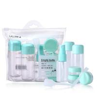 8 pçs / set Viagens Mini Vazio Maquiagem Pote Garrafas Cosméticos Recipientes De Creme para o Rosto Frascos de Spray de Perfume Frascos