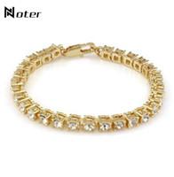 Noter Luxus Zirkonia Tennis Armband Charms Gold Silber Farbe Hip Hop Braklet für Herren Frauen Rock Schmuck Pulsera