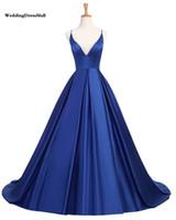 2021 간단한 로얄 블루 댄스 파티 드레스 새틴 스파게티 부르고뉴 이브닝 가운 크로스로 돌아 가기 섹시한 공식 파티 드레스 vestido 드 축제