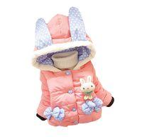 Bébé fille dessin animé coton manteau épais veste nouvelle mode enfants doudoune pour 1-4 ans