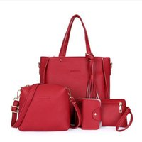 Luxury 4 Set Bags New Fashion Women Handbags Single Shoulder Bag Totes Bag Charol Design Bag