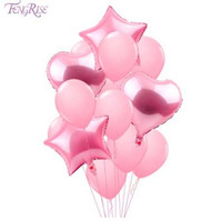 FENGRISE 14PCS Mixed Pink Birthday Balloon Blue Birthday Par...